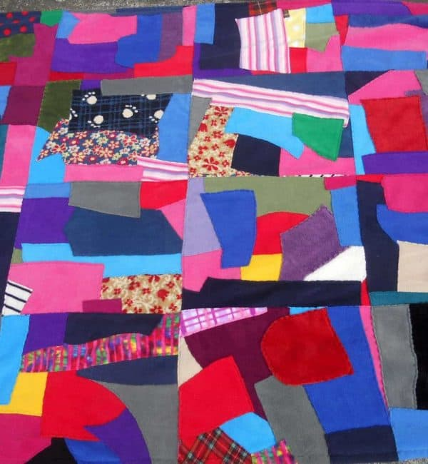 Patchwork Fleece Blanket Double