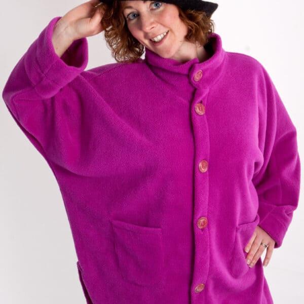 Womens fleece Poncho