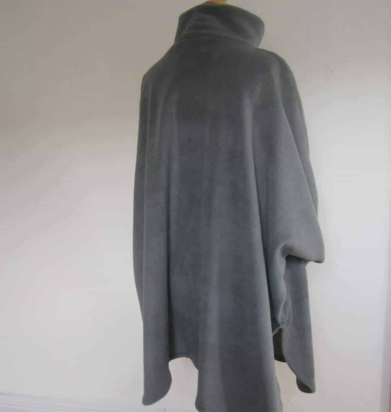 Womens Fleece Poncho Short