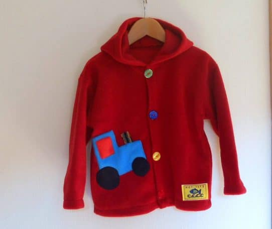Childresn Hooded fleece Jacket Red