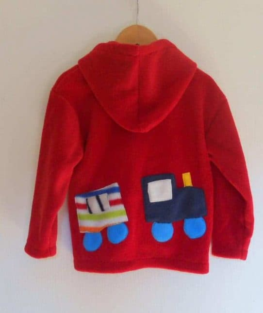 Childs Hooded Fleece jacket Red