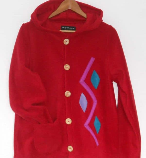 Womens hooded fleece jacket
