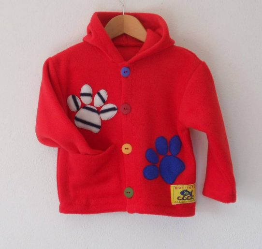 Childrens hooded jacket Paws