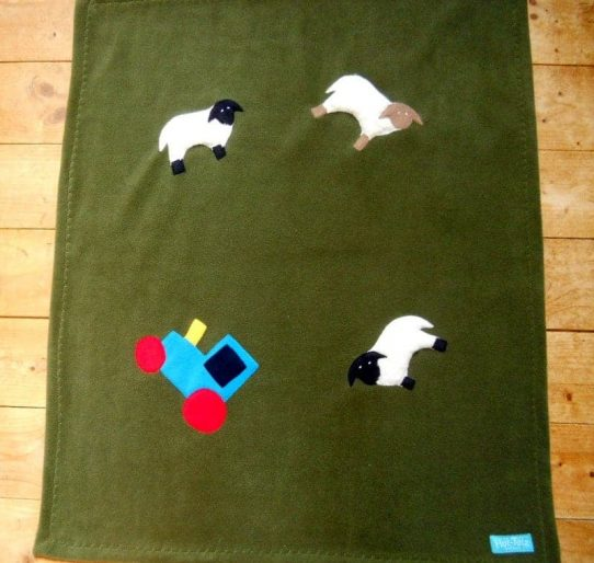 boy baby blanket farm