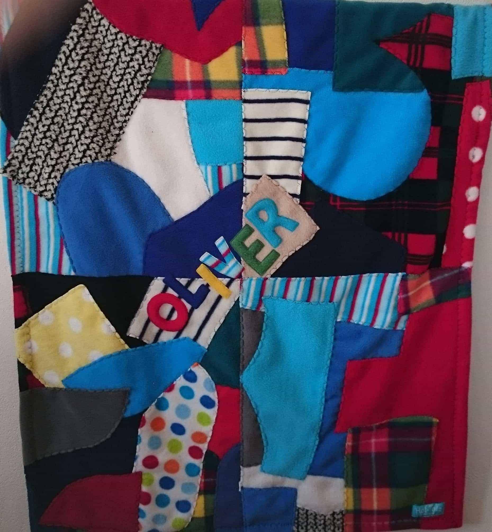 Patchwork Fleece Baby Blanket Personalized