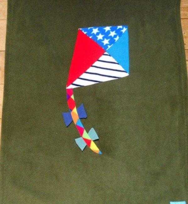 Fleece Baby Blanket'Kite'Handmade