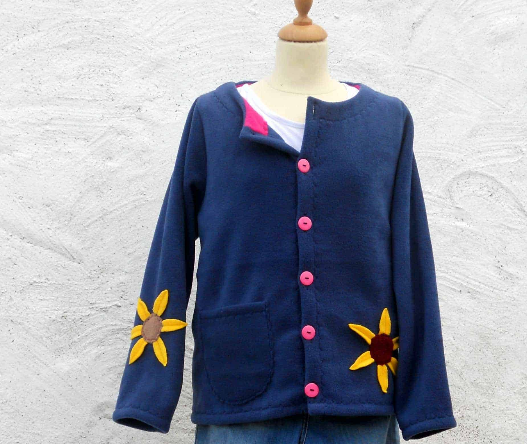 Ladies Sunflower Fleece Jacket