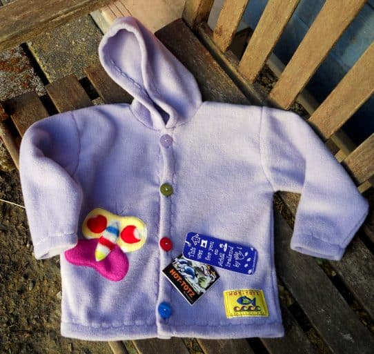 Girls FLeece Jacket Garden