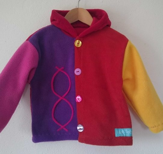 Colourful Childrens Jacket'Aran'