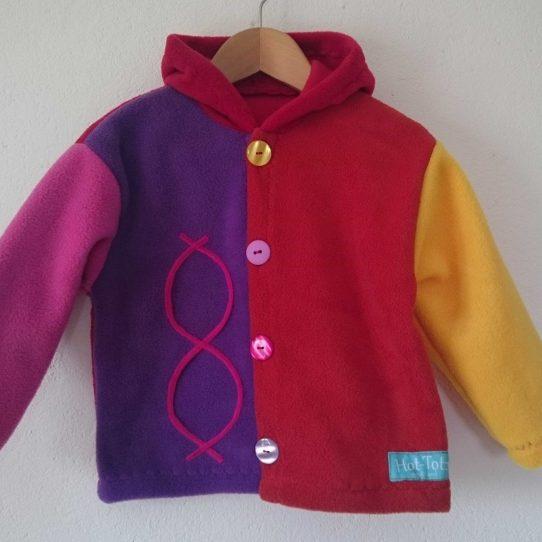 Colourful Childrens Jacket'Aran'