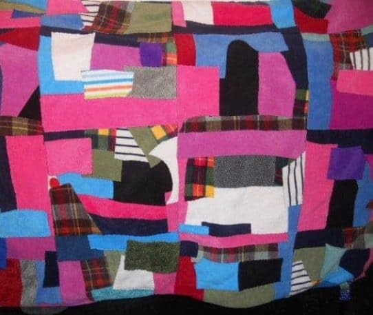 Fleece Patchwork Rug