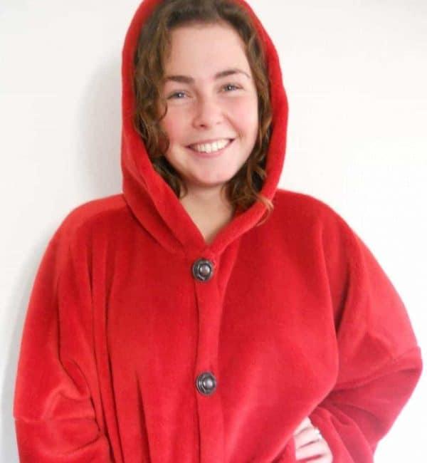 Ladies Fleece Hooded Jacket/Coat