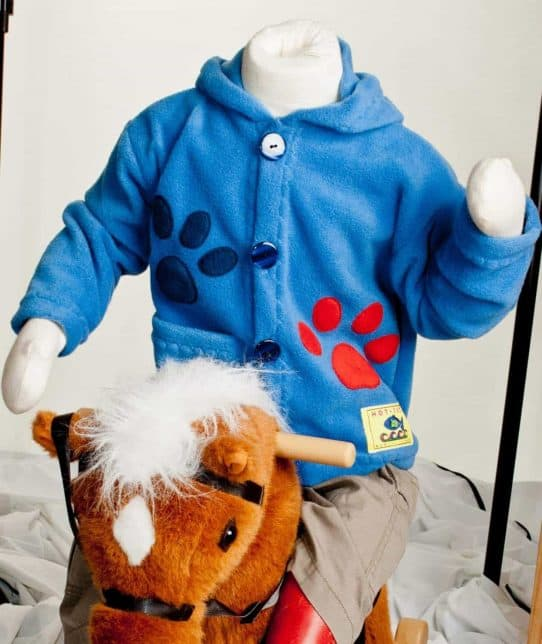 Handmade Hooded Kids Fleece Jacket