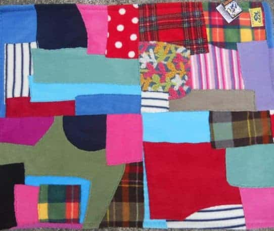 Fleece Patchwork Baby Blanket