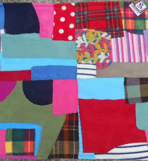 Fleece Patchwork Baby Blanket