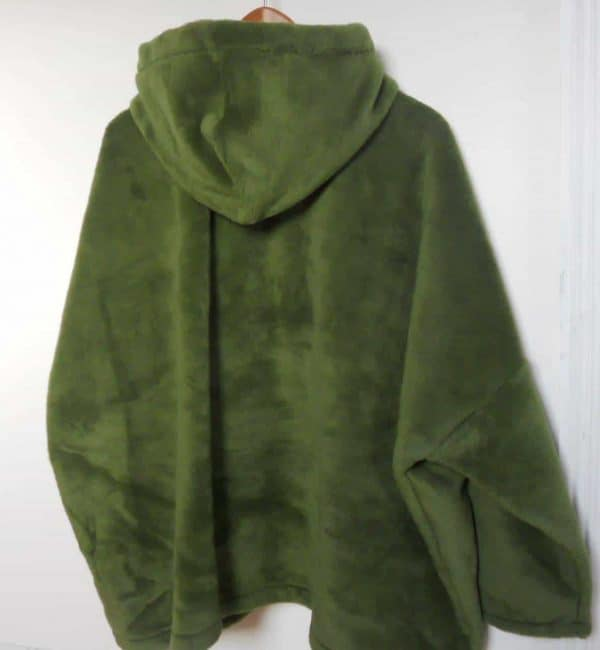 Ladies Hooded Fleece Coat