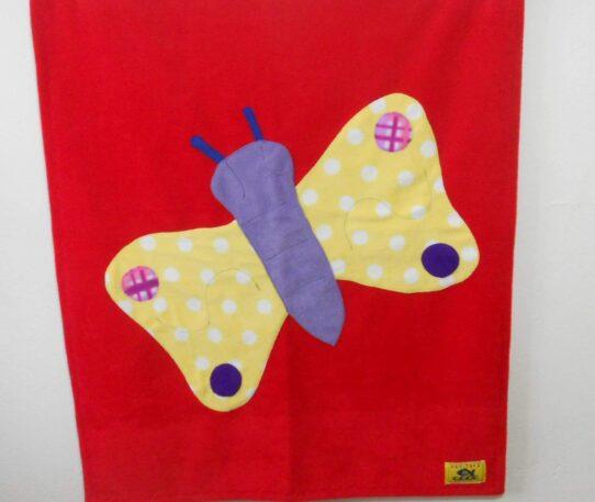 Hot-Totz Fleece Butterfly Baby Blanket