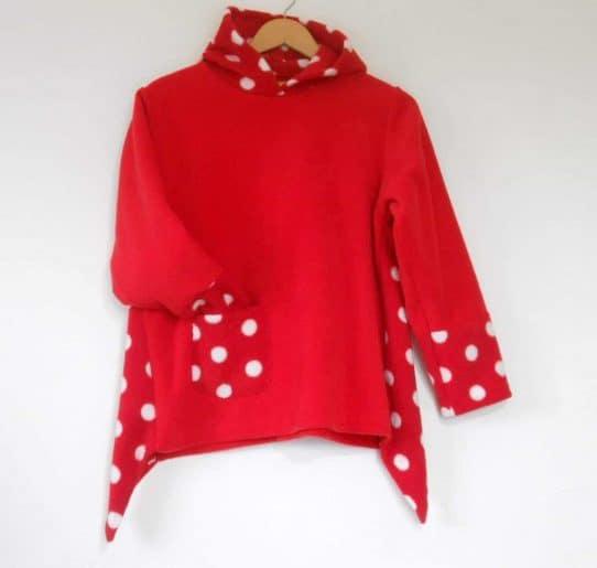 Girls Hooded Fleece Sweater