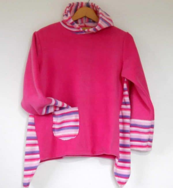 Girls Hooded Fleece Sweater