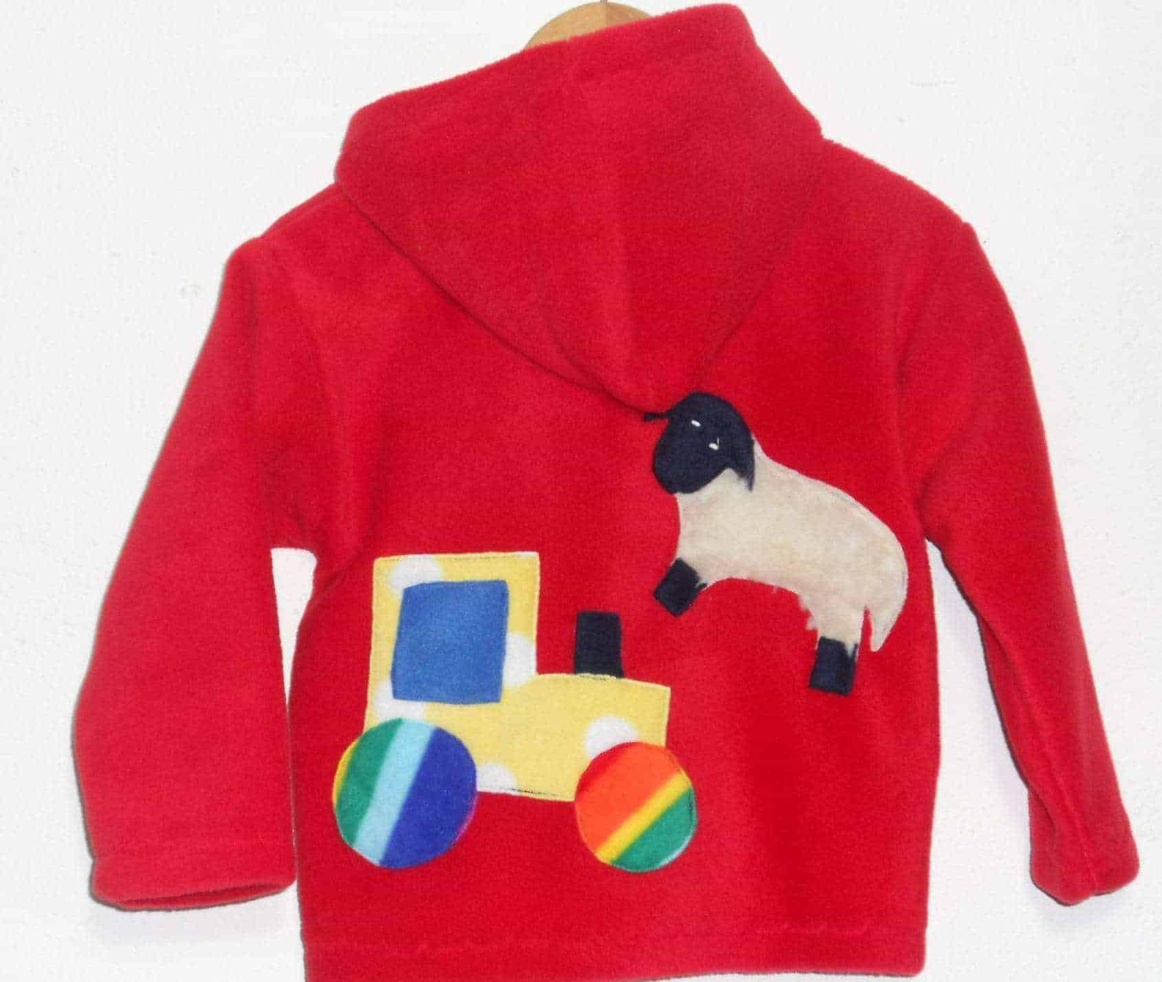 Hot Totz Kids Fleece Hooded Jacket Farm 183 Blackfield