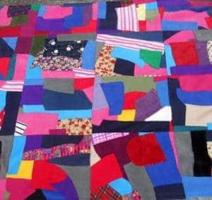 Patchwork Fleece Blanket Double