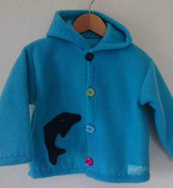 Childrens Hooded fleece jacket