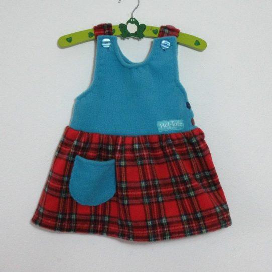 Fleece Pinafore Dress