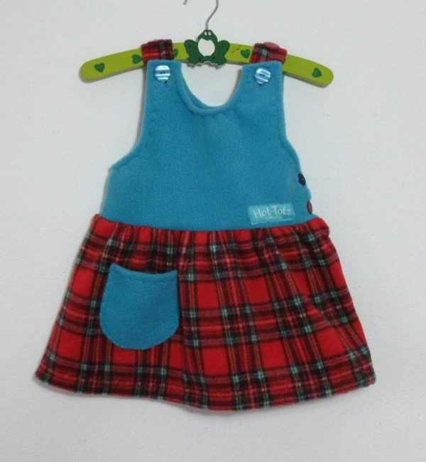 Fleece Pinafore Dress