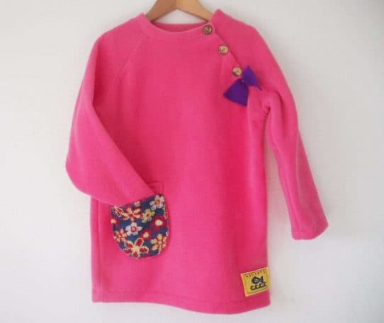 Girls Fleece Jumper Dress