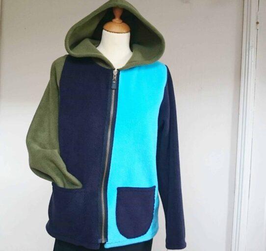 Ladies Hooded Fleece Jacket with Zip