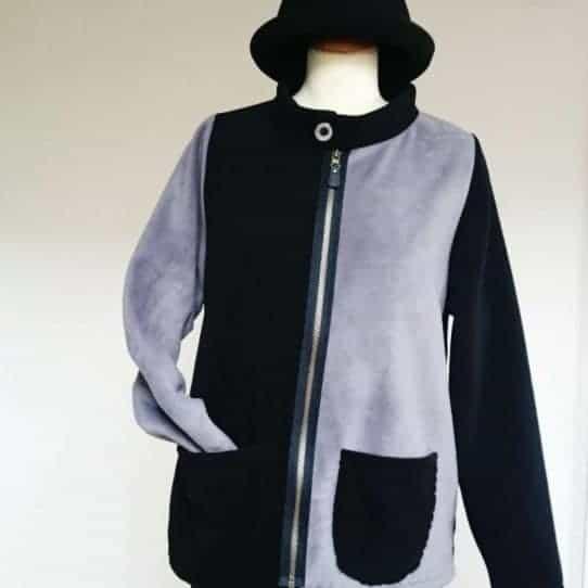 Ladies fleece jacket with Zip