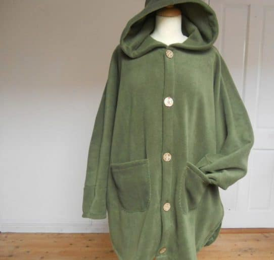 Short Fleece Poncho