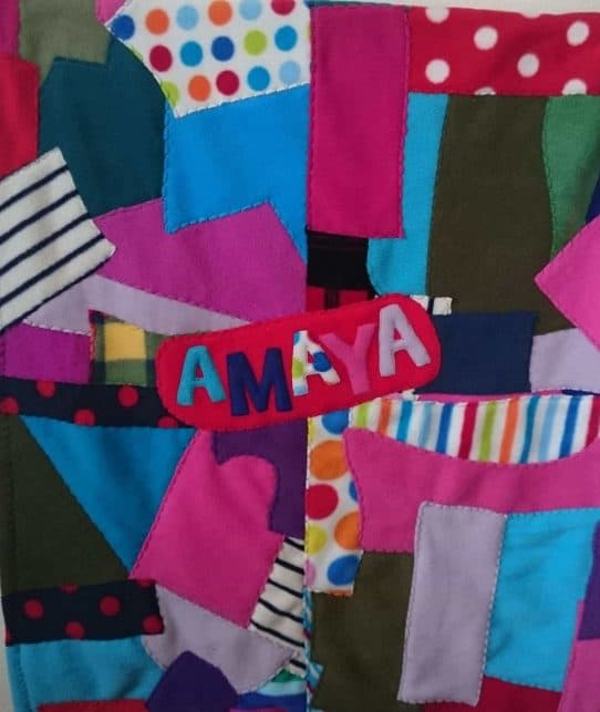 Patchwork Fleece Baby blanket