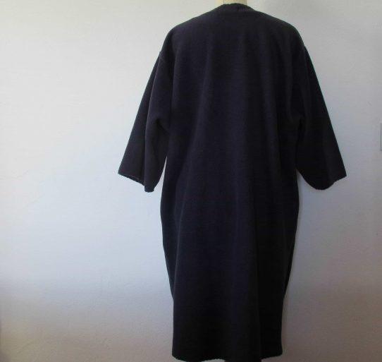 long fleece cardigan