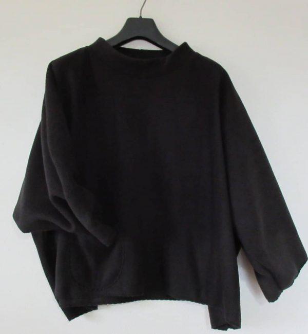 black oversized sweater