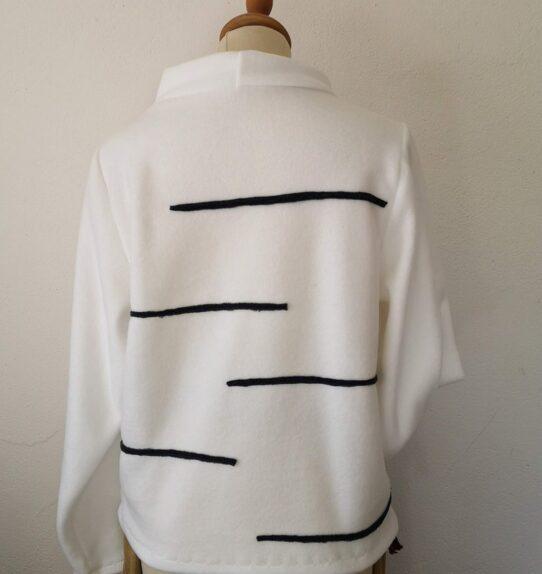 Warm Fleece Stripy Sweater